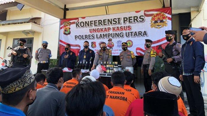 52 Tersangka Diamankan Polisi di Lampung Utara Selama Dua Pekan Terakhir