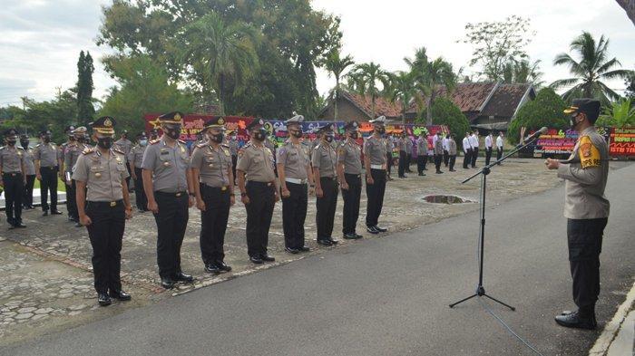 57 Personel Polres Tulangbawang Terima Kenaikan Pangkat, Mulai Bintara Sampai Perwira