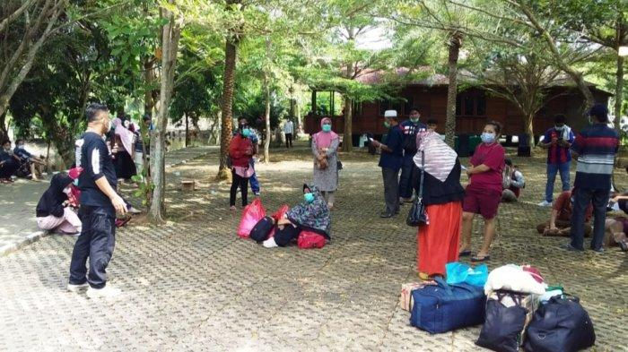 58 PPDN di Negeri Baru Resort Kalianda Bisa Lanjutkan Perjalanan