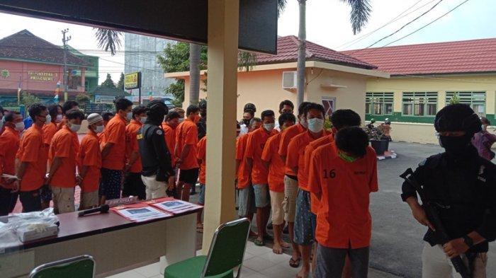 7 Residivis Ikut Diamankan dalam Operasi Antik Krakatau 2021 Polres Pringsewu