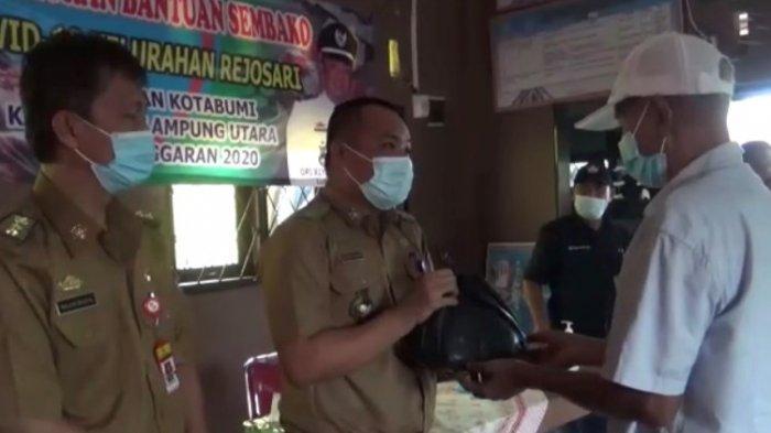 800 KK Terdampak Covid-19 di Rejosari Lampung Utara Terima Bantuan Sembako