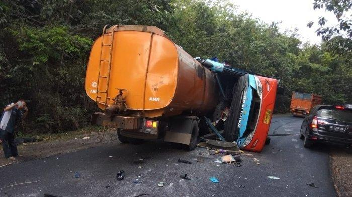 Sopir Bus Rosalia Indah Jadi Tersangka Kecelakaan Maut di Way Kanan