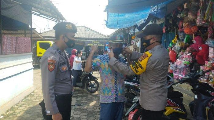 Abaikan Prokes, 70 Warga di Pasar Kedondong Pesawaran Kena Sanksi