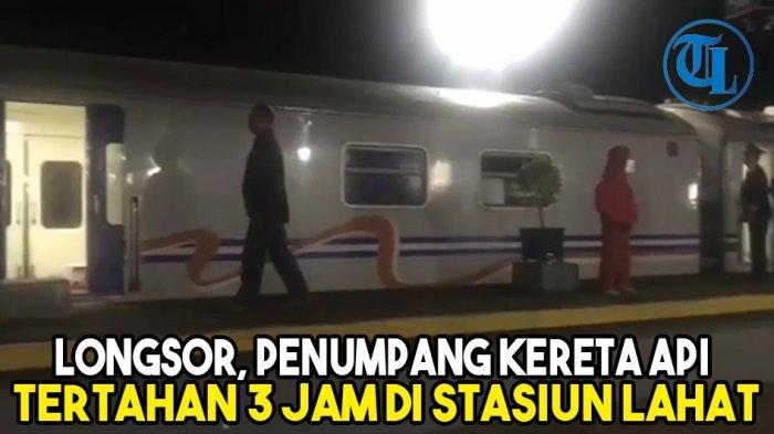 Penumpang Kereta Api Sindang Marga Tertahan 3 Jam di Stasiun Lahat Akibat Longsor