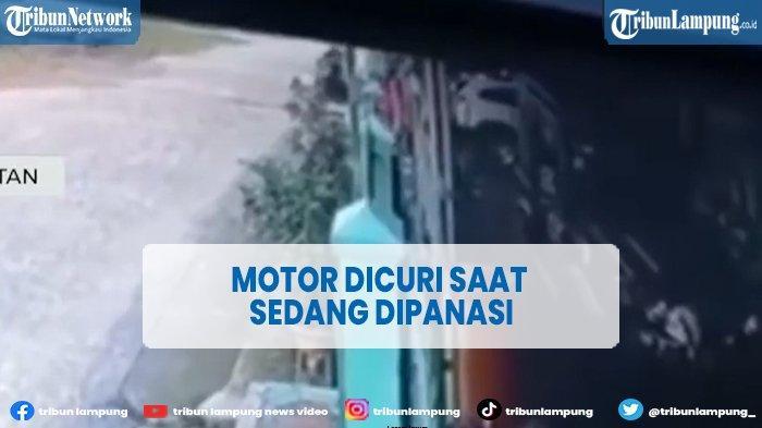 Aksi Curanmor Bawa Kabur Motor Saat Dipanasi Terekam CCTV