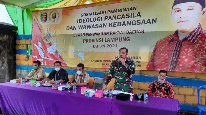 Sosialisasi Ideologi Pancasila dan Wawasan Kebangsaan, Ali Imron Ajak Masyarakat Cintai Tanah Air