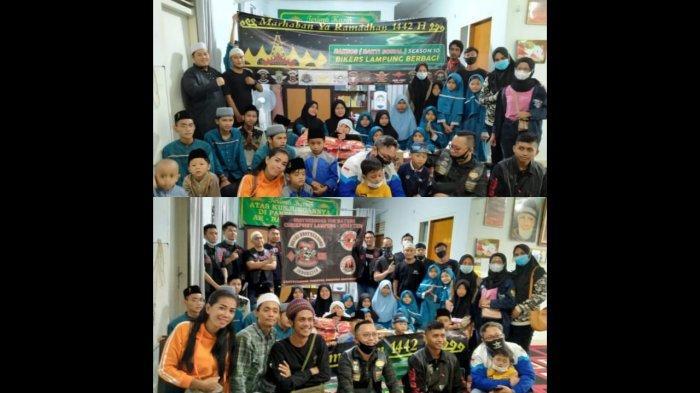 All Bikers Lampung Berbagi di Panti Asuhan Ar-Ra'uf Syahira
