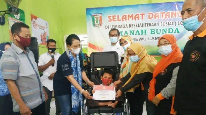 Anak Penyandang Disabilitas Pringsewu Lampung Dapat Bantuan dari Kemensos