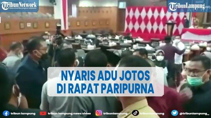Anggota DPRD Jambi Nyaris Adu Jotos Saat Rapat Paripurna