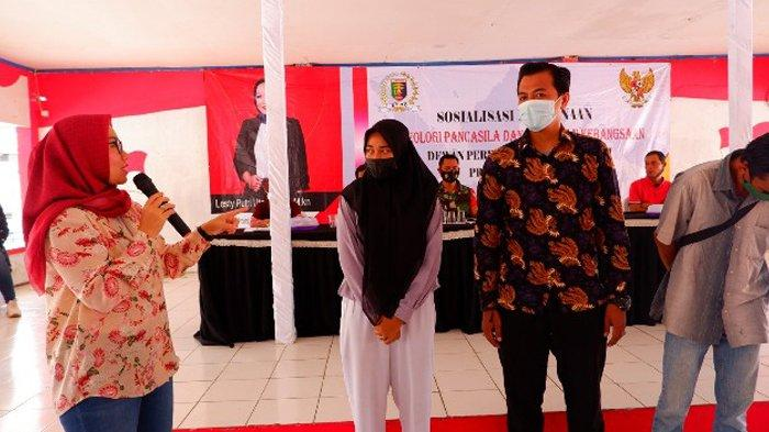 Anggota DPRD Lampung Lesty Putri Utami Sosialisasi Pembinaan Ideologi Pancasila