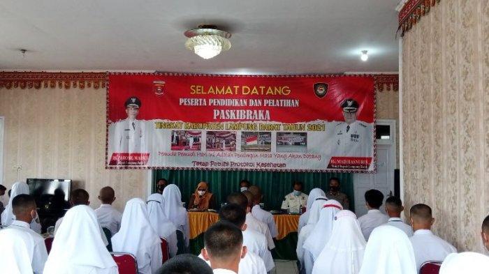 50 Peserta Paskibraka Lampung Barat Jalani Masa Karantina