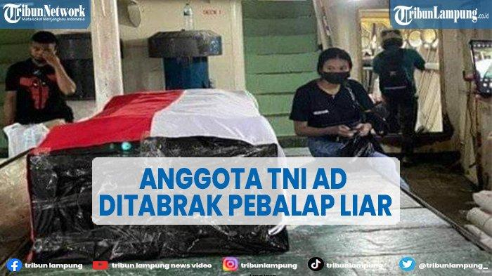 Anggota TNI AD di Gorontalo Meninggal Ditabrak Motor Balap Liar