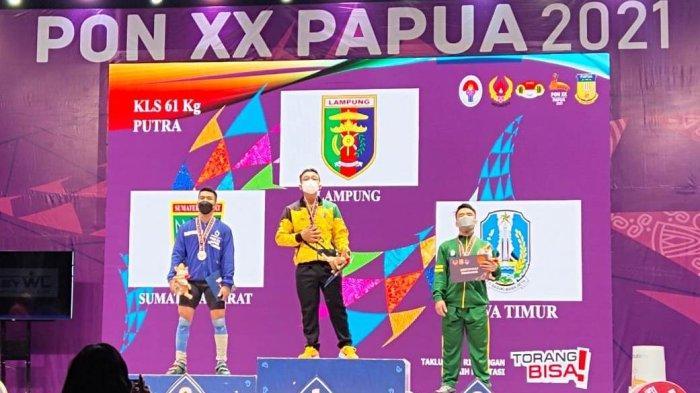 Lifter Lampung Setiawan Halim Sumbang Emas Kelima di PON Papua 2021