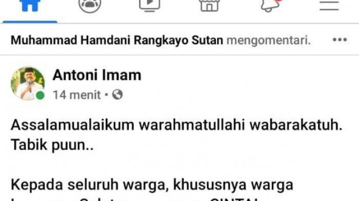 BREAKING NEWS Balon Wabup Lampung Selatan Antoni Imam Positif Covid-19, Hasil Tes PCR di RSUDAM