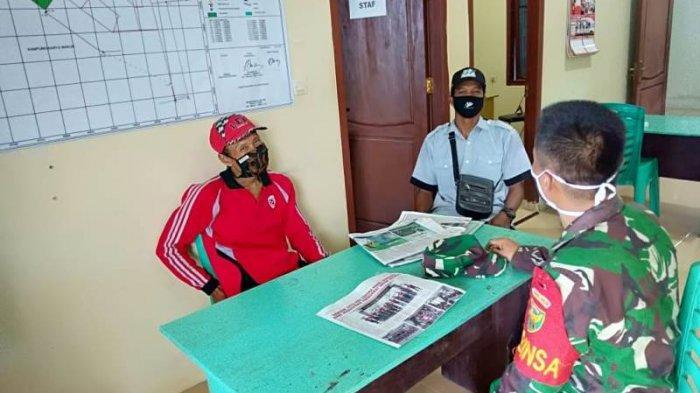 Aparat TNI di Tulangbawang Kerahkan Babinsa Sosialisasi Prokes hingga ke Pelosok