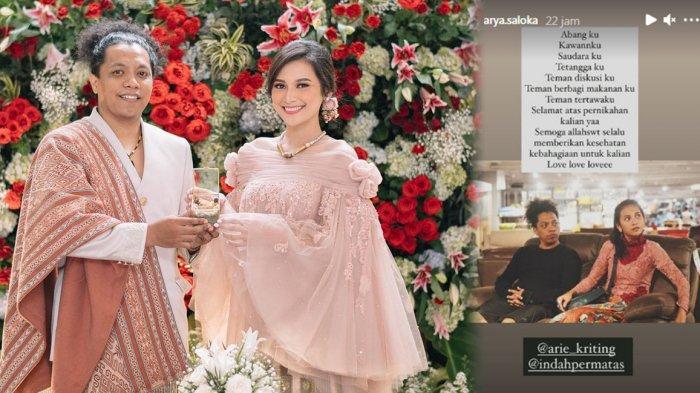 Arie Kriting dan Indah Permatasari Menikah, Arya Saloka Ikatan Cinta Beri Selamat