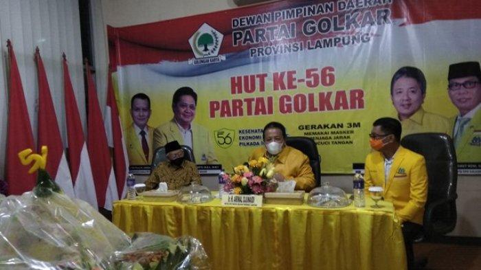 Arinal Rayakan HUT Ke-56 Partai Golkar Secara Virtual