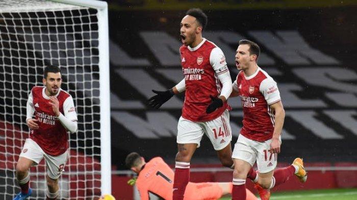 Hasil Liga Inggris, Aubameyang Cetak Tiga Gol, Arsenal Naik Peringkat, Man UnitedGeser Leicester