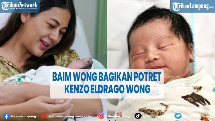 Kenzo Eldrago Wong, Nama Anak Kedua Baim Wong