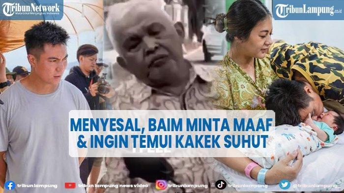 Baim Wong Menyesal, Tulis Permintaan Maaf dan Ingin Temui Kakek Suhud