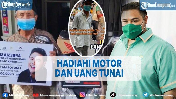 Ivan Gunawan Hadiahi Kakek Safaruddin Motor dan Uang Rp 2Juta