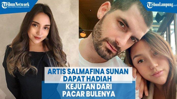 VIDEO Artis Salmafina Sunan Dapat Hadiah Kejutan dari Pacar Bulenya