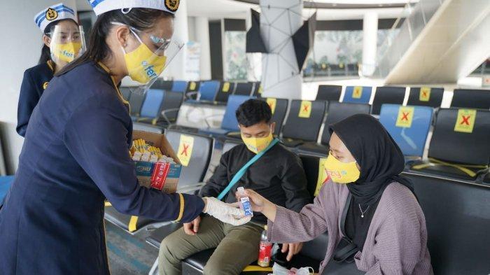 ASDP Lampung Komitmen Tingkatkan Pelayanan Pakai Aplikasi PeduliLindungi