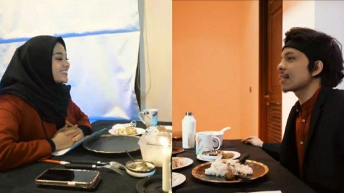 Ilustrasi Atta Halilintar dan Aurel Hermansyah dinner jarak jauh