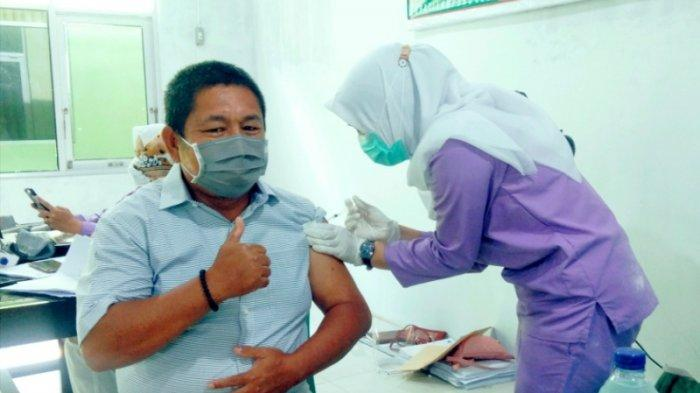 Awak Media di Lampung Selatan Divaksin Covid-19 Tahap II