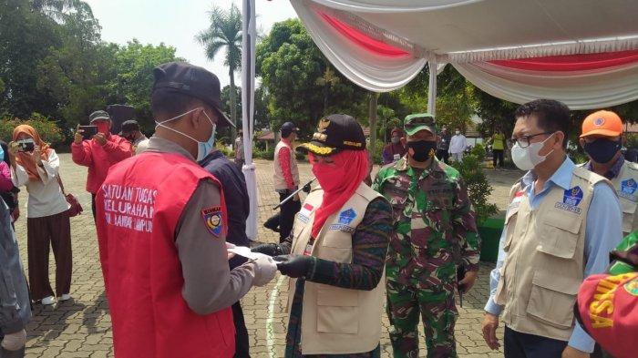 Danramil 410-06/Kedaton Hadiri Apel Satgas Covid Kecamatan Rajabasa