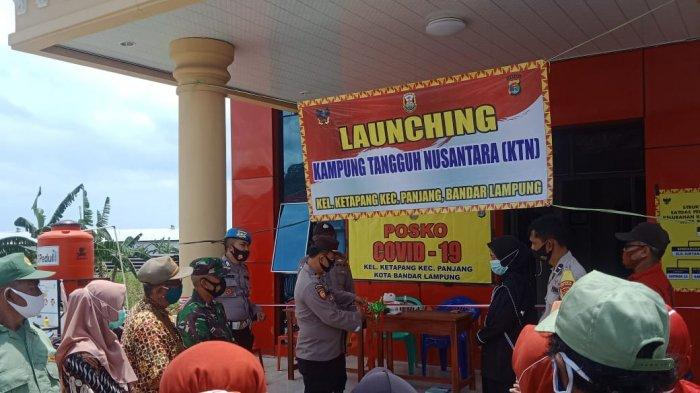 Babinsa Sertu Yudha Saputra Hadiri Launching Kampung Tangguh Nusantara Ketapang