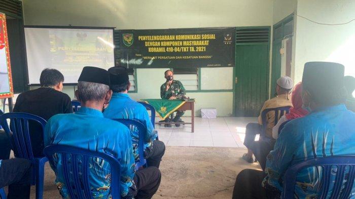 Koramil 410-04/TKT Gelar Pertemuan dengan Komponen Masyarakat di Aula Koramil