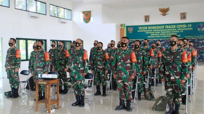 Babinsa Lampung Timur Ikuti Workshop Tracer Covid 19