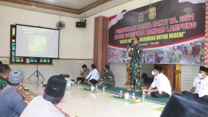 Romas Herlandes Hadiri Pembukaan Karya Bakti TNI 2021