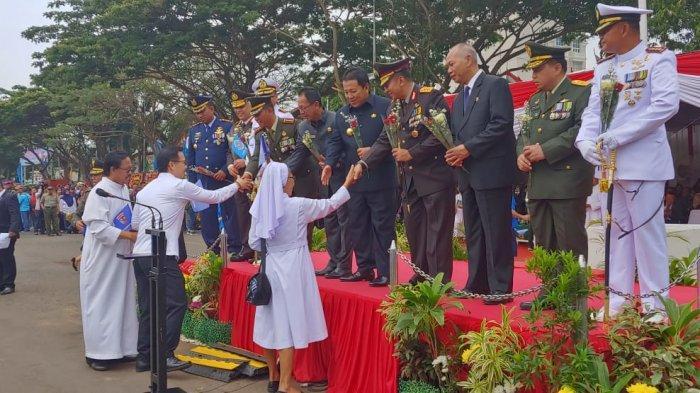 Balafans dan Blaster Ikut Hadir, Elemen Masyarakat Lampung Serukan Indonesia Damai di HUT Ke-74 TNI
