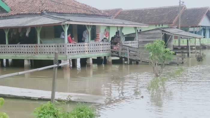 Banjir Rendam Lingkungan Bugis Tulangbawang, Ketinggian Air hingga 60 Cm
