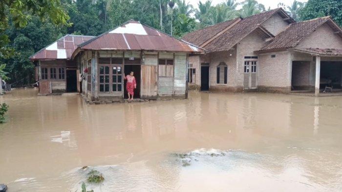 Banjir di Pekon Sukaraja, Kecamatan Semaka, Tanggamus, Selasa (31/8/2021).