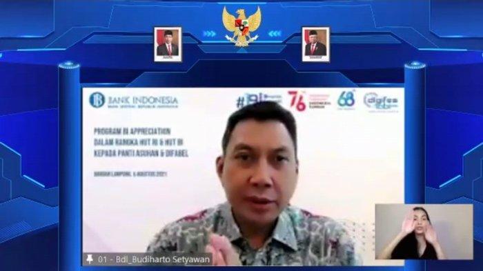 Bank Indonesia (BI) melalui Program BI Appreciation menyerahkan bantuan sosial kepada panti asuhan dan difabel dalam rangka HUT RI Ke-76 dan HUT BI.