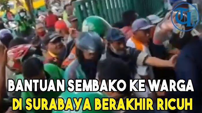 Bantuan Sembako ke Warga di Halaman Kantor Muslimat NU Kota Surabaya Berakhir Ricuh
