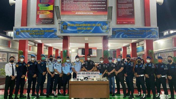 Razia di Rutan Kota Agung Lampung, Petugas Dapati Ponsel sampai Speaker di Kamar Tahanan