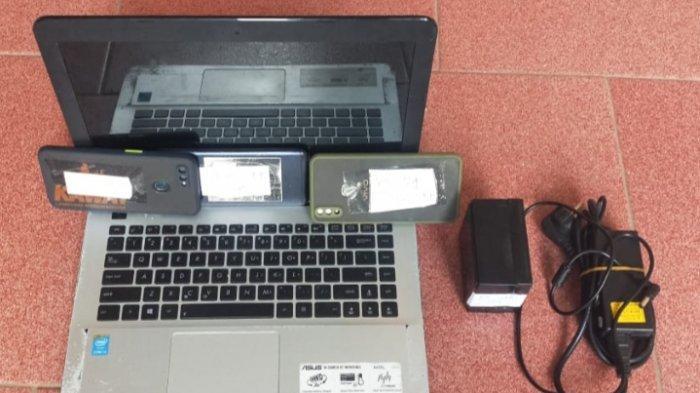 Tak Hanya Laptop dan Uang, Pelaku Embat 4 Unit Ponsel Korban