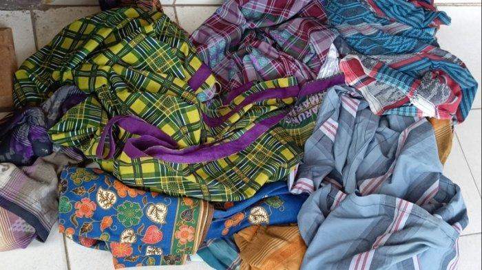 Barang Bukti Sarung yang Dipakai Remaja untuk Tawuran Perang Sarung Turut Disita Polisi