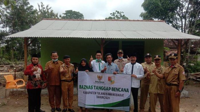 Baznas Bantu Rehab Rumah Korban Puting Beliung di Tubaba