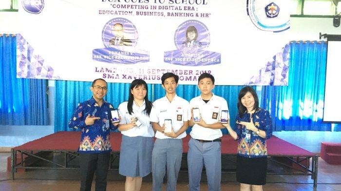 BCA Goes to School SMA Xaverius Pahoman Kenalkan Produk Digital dan Beasiswa