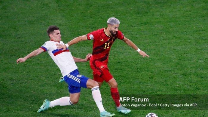 Hasil Euro 2020, Belgia Unggul 2-0 Dari Rusia di Babak Pertama
