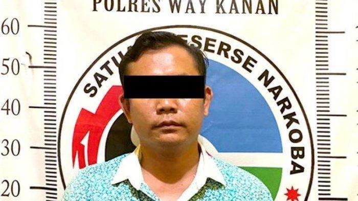 Beli Tembakau Sintetis Lewat Medsos, Pemuda di Way Kanan Lampung Diringkus Polisi