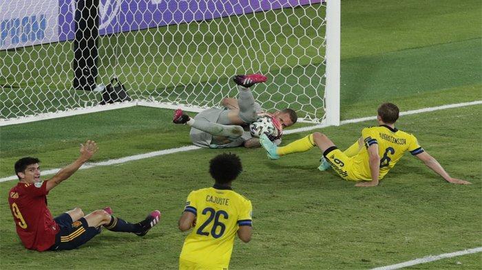 Berikut hasil Euro 2020 pertandingan antara Spanyol vs Swedia