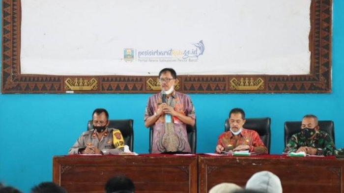 Bupati Pesisir Barat Gelar Rapat Tentang Instruksi Gubernur Lampung Nomor 1 Tahun 2021
