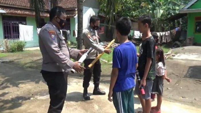 Meriam Bambu Telan Korban Jiwa di Tanggamus, Polsek Wonosobo Gelar Razia