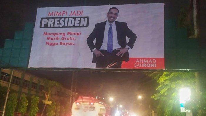 Billboard Ahmad Sahroni Mimpi Jadi Presiden Hadir di Beberapa Titik di Kota Bandar Lampung